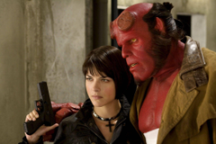 Elizabeth Sherman and Hellboy