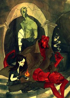 Abe Sapien Liz Sherman by AbigailLarson deviantart on