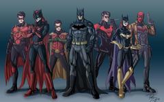 DC Comics Batman Robin Batwoman Justice League Nightwing Red
