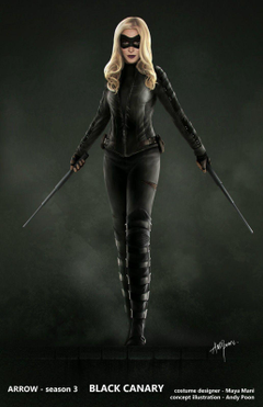 Katie Cassidy Black Canary Costume
