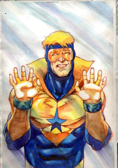 Booster Gold in Joe Rubinstein s Commissions Comic Art Gallery Room