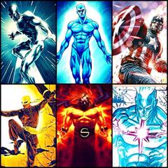 My dream team Silver Surfer Dr Manhattan Captain America Iron