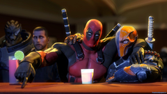 Deadpool with deadshot wallpapers