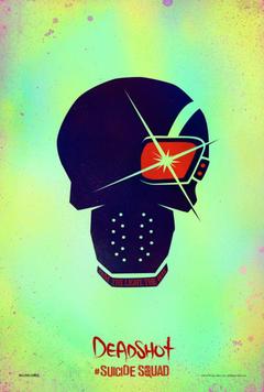 Sweet Deadshot skull poster for