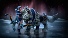 Princess Mirana Snow Storm Huntress Dota 2 Fantasy Art Wallpapers