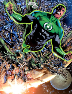Wally West and John Stewart vs Barry Allen and Hal Jordan
