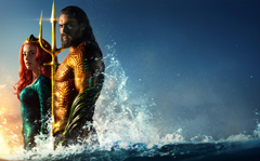 Wallpapers Aquaman Jason Momoa Amber Heard Mera DC Comics HD 5K