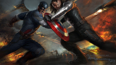 Captain America Shield Fight The Winter Soldier Drawing Marvel