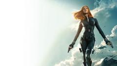 Scarlett Johansson Redhead Captain America Winter Soldier Handgun