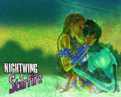 Nightwing Starfire Wallpapers by Drawgasm Designs