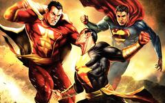 Superman Captain Marvel Captain Atom Black Adam Shazam DC
