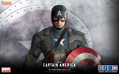 International Captain America The First Avenger Poster and Five