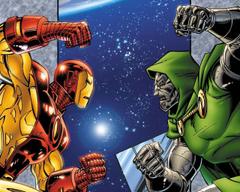 Iron Man vs Doctor Doom Hyper Combo Wallpaper