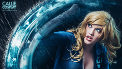 callie cosplay blonde power blue invisible woman HD wallpapers