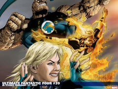Comics Ultimate Fantastic Four Thing Invisible Woman Susan