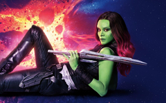 Wallpapers Zoe Saldana Gamora Guardians of the Galaxy Vol 2 4K