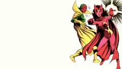 Comics Marvel Comics Scarlet Witch white backgrounds The Vision