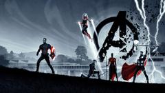 Captain America Thor Captain Marvel Avengers Endgame Wallpapers