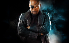 Samuel L Jackson Nick Fury Eyepatches Arms Crossed Captain