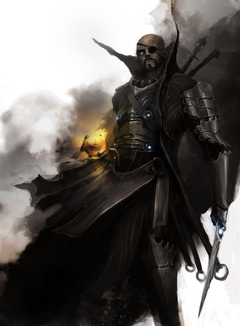 paintings blade digital art artwork The Avengers Nick Fury