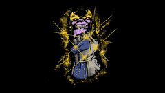 Minimalistic funny power glove thanos wallpapers