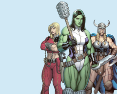 Femme Fatales image She Hulk Valkyrie Thundra HD fond d écran