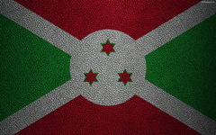 wallpapers Flag of Burundi leather texture 4k Burundi