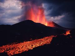 Nature Volcano Erupting Kimanura Virunga National Park Democratic