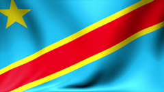 Democratic Republic of Congo Flag Backgrounds Seamless Looping