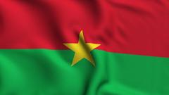 Video Burkina Faso Weave Textured Flag Loop