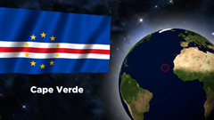 Cabo verde flag clipart collection