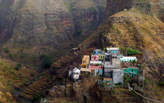 Village of Fontainhas on Santo Antão Island the Republic of Cabo