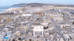 Aerial view of Sal Rei city in Boavista Cape Verde
