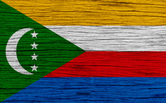 wallpapers Flag of Comoros 4k Africa wooden texture
