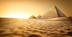 Egypt Cairo Nature Desert Sand Pyramid