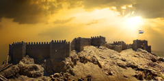 Wallpapers Egypt Fortress Cairo Sky Sunrises and sunsets Cities