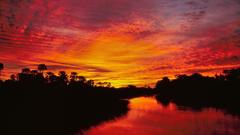 Sunset Delta Botswana wallpapers
