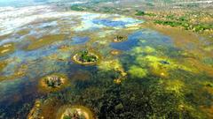Africa botswana blue green islands wallpapers