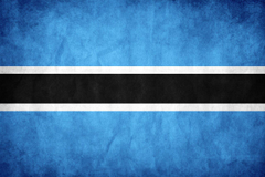 Flag of Botswana the Symbol of Water Source and Farming