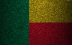 wallpapers Flag of Benin leather texture 4k Benin flag