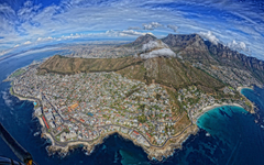 Cape Town South Africa Buildings Mountains Aerial Coast e