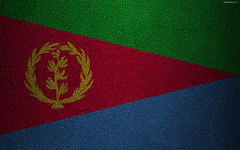 wallpapers Flag of Eritrea Africa 4K leather texture