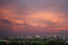 a few hours before huge storm hit durban sky