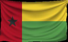 Guinea Bissau Wrinkled Flag