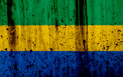wallpapers Gabonese flag 4k grunge flag of Gabon Africa