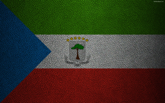 wallpapers Flag of Equatorial Guinea Africa 4k leather