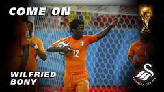 Swansea City s Wallpapers Wednesday Ivory Coast striker Wilfried Bony