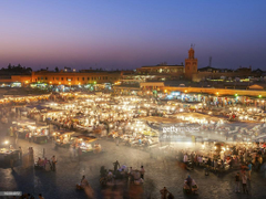 Djemaa El Fna Square Marrakech Morocco Stock Photo