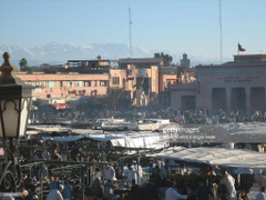 Jemaa Elfnaa Square In Marrakech Stock Photo