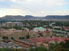 Lesotho government complex in the capital